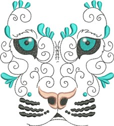 Exotic Wild Feline embroidery design
