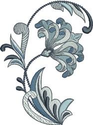 Elegant Fleur De Lis Flower embroidery design