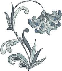 Delightful Fleur De Lis Flower embroidery design