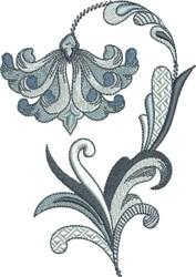 French Blue Fleur De Lis Flower embroidery design