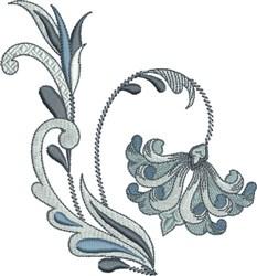 Fleur De Lis Floral embroidery design
