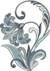 Queens Fleur De Lis Floral embroidery design