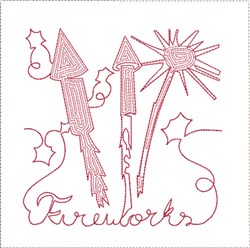 Fireworks Quilt Block embroidery design
