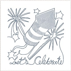 Lets Celebrate Quilt Block embroidery design