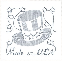 Made In USA Quilt Block embroidery design