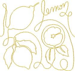 Free Motion Lemon embroidery design