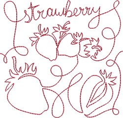 Free Motion Strawberry embroidery design