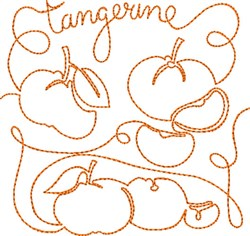 Free Motion Tangerine embroidery design