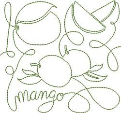 Free Motion Mango embroidery design