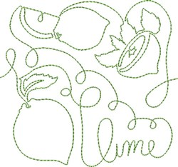 Free Motion Lime embroidery design