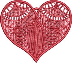 FSL Fancy Heart 4 embroidery design
