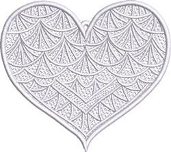 FSL Fancy Heart 6 embroidery design