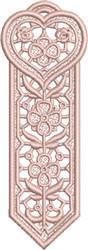 FSL Heart Bookmark 3 embroidery design