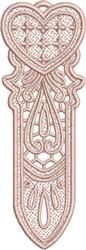 FSL Heart Bookmark 5 embroidery design