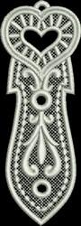 FSL Heart Bookmark 8 embroidery design