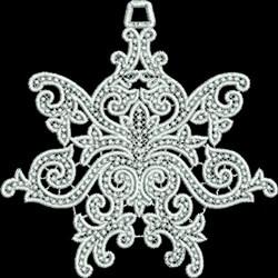 FSL Swirled Star Ornament embroidery design