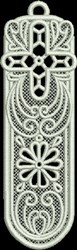 FSL Cross and Flower Bookmark embroidery design