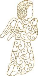 Nativity Praying Angel embroidery design