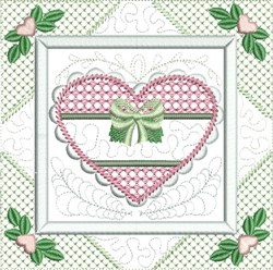 Quilt  Heart  Block embroidery design