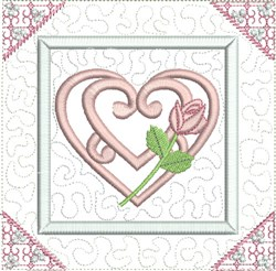 Curlique Quilt Block embroidery design