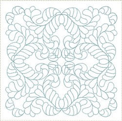 ITH Feathered Quilt Block embroidery design