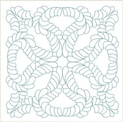 ITH Feathered Cross Quilt Block embroidery design