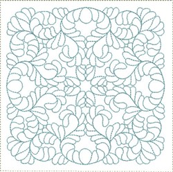 ITH Curved Feathers Quilt Block embroidery design