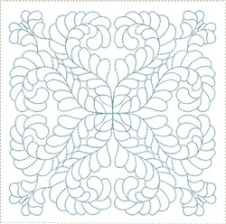 ITH Fully Feathered Quilt Block embroidery design