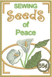 Sewing Seeds of Peace embroidery design