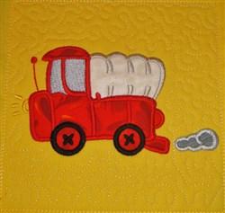 ITH Big Truck Applique Quilt Block embroidery design
