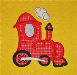 ITH Airplane Train Quilt Block embroidery design