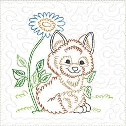 Little Fox Quilt Block 5 embroidery design