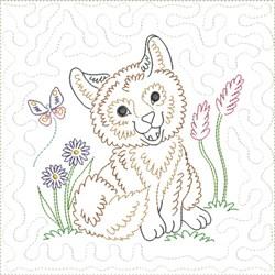 Little Fox Quilt Block 10 embroidery design