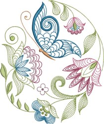 Large Hoop Jacobean Dream embroidery design