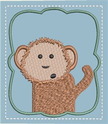 Memory Game Monkey embroidery design