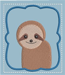 Memory Game Sloth embroidery design