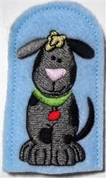 Bow Wow There embroidery design