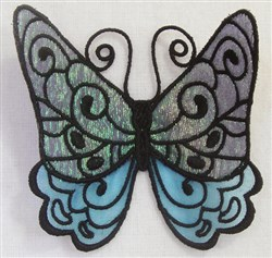 ITH FS Organza Butterfly 4 embroidery design