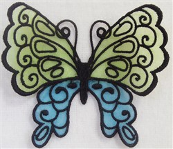 ITH FS Organza Butterfly 5 embroidery design