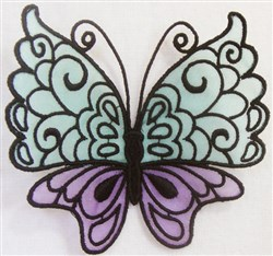 ITH FS Organza Butterfly 6 embroidery design
