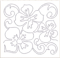 Pansy Quilt Block 2 embroidery design