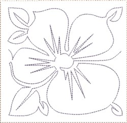 Pansy Quilt Block 3 embroidery design