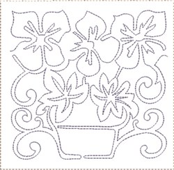 Pansy Quilt Block 4 embroidery design