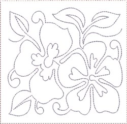 Pansy Quilt Block 6 embroidery design
