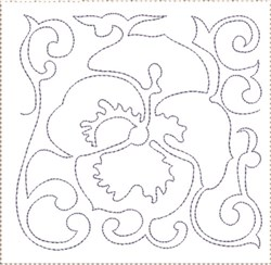Pansy Quilt Block 11 embroidery design