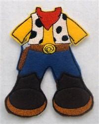 Felt Boy Paperdoll Cowboy Costume embroidery design