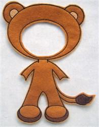 Felt Boy Paperdoll Lion Costume embroidery design