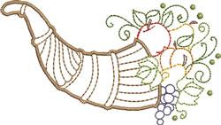 Horn of Plenty embroidery design