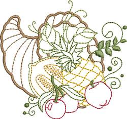 Cornucopia With Pineapple embroidery design