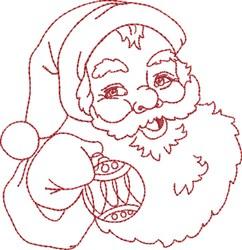 Santa with Ornament embroidery design